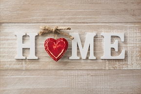 Senior Move Management- Home Sign with a heart