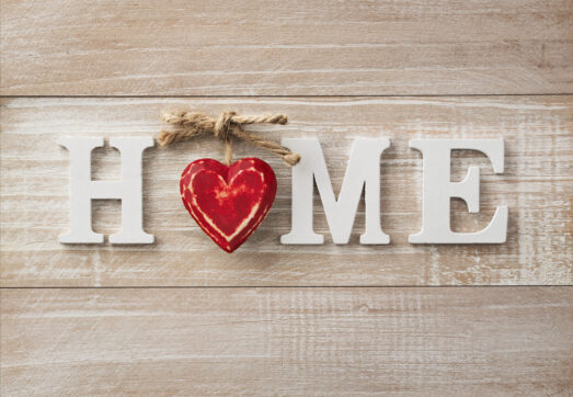 Downsizing and Decluttering- Home Sign with a Heart
